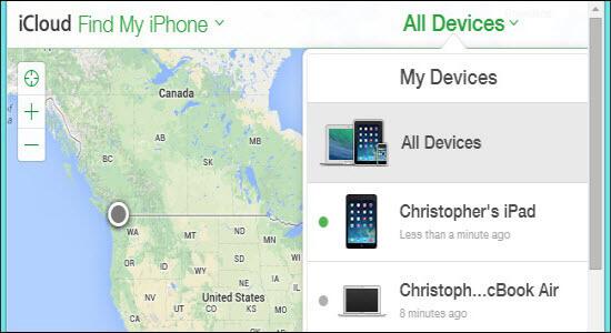 iCloud「所有裝置」
