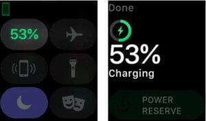 Apple Watch 電池百分比