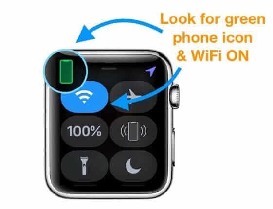 檢查Apple Watch控制中心