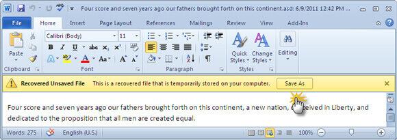 另存新檔將其儲存在電腦中