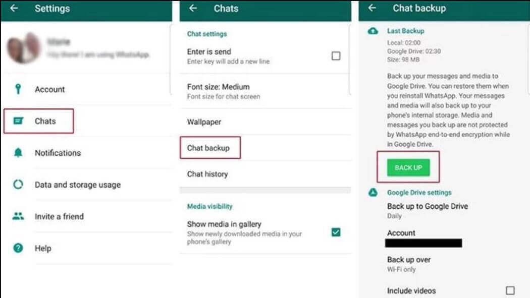 Google 雲端硬碟還原WhatsApp 數據