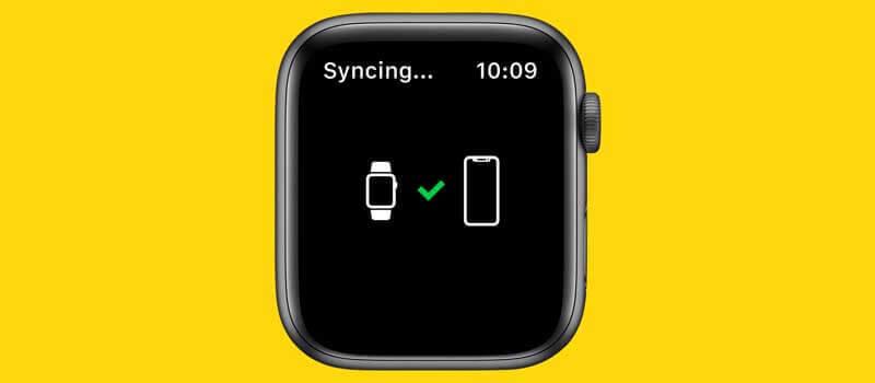 Apple Watch與iPhone同步