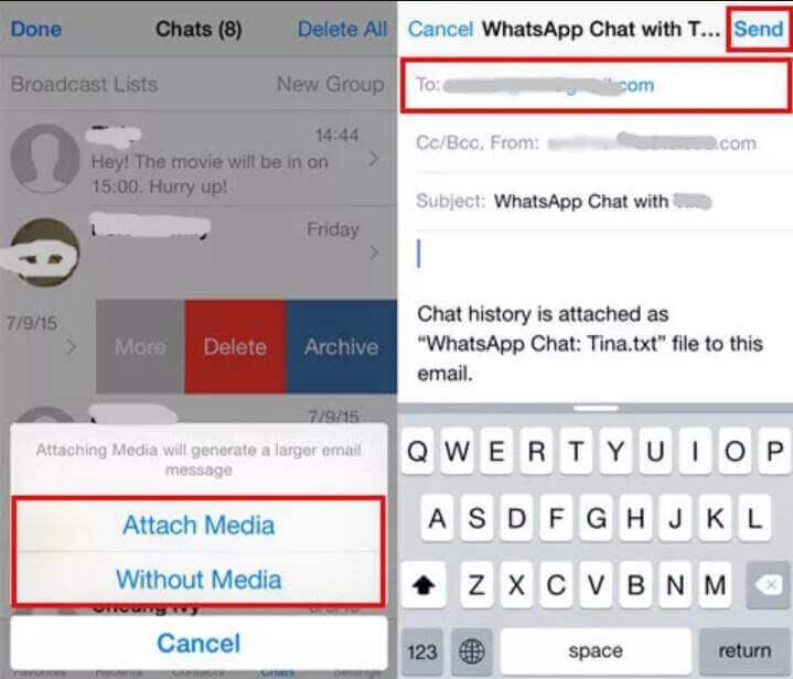 電郵WhatsApp