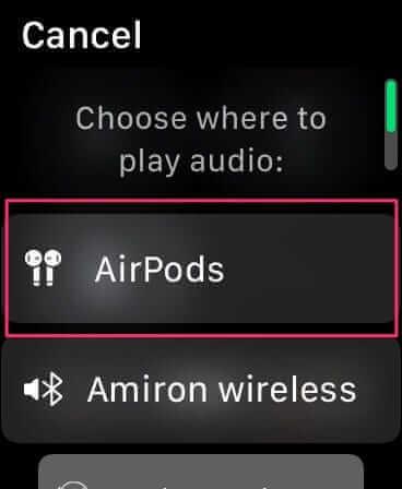 手動切換到AirPods